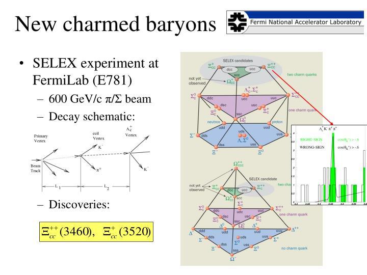 New charmed baryons