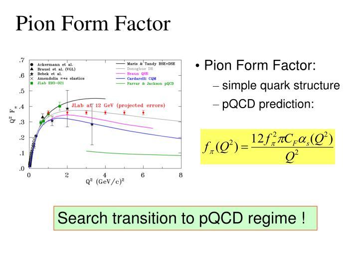 Pion Form Factor
