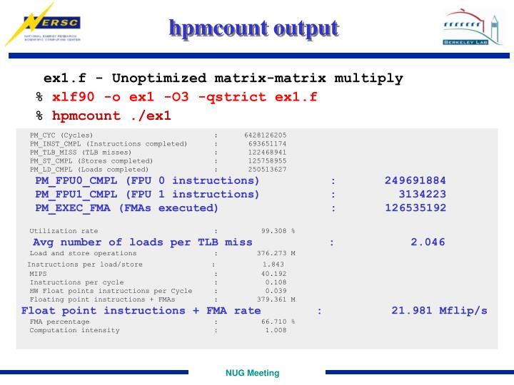 hpmcount output