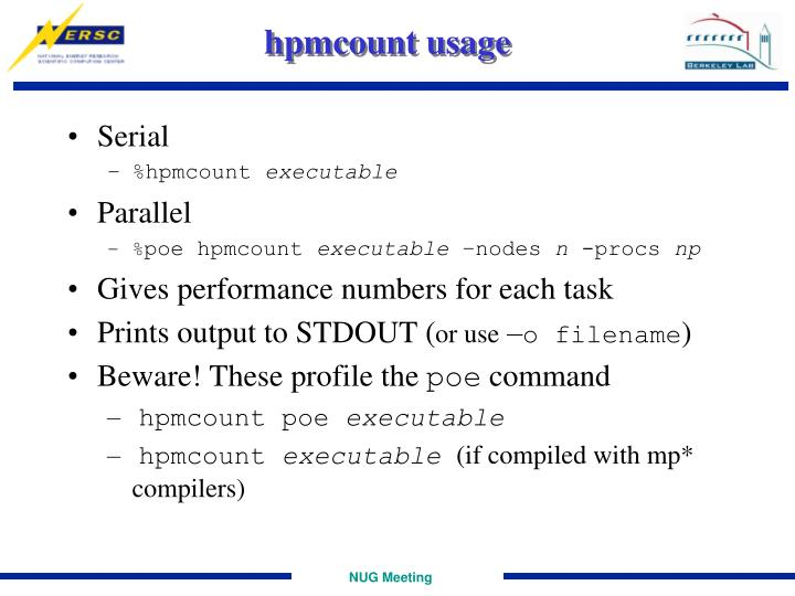 hpmcount usage