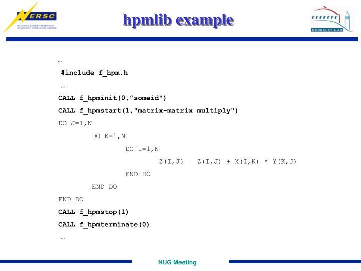 hpmlib example