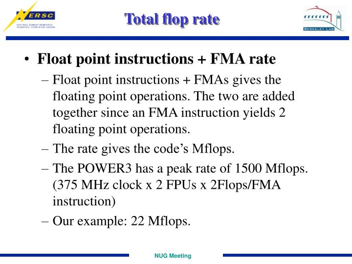 Total flop rate