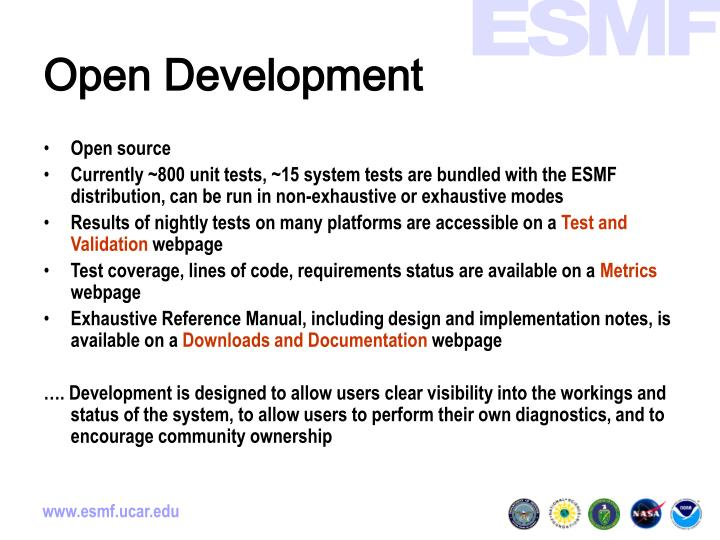 Open Development