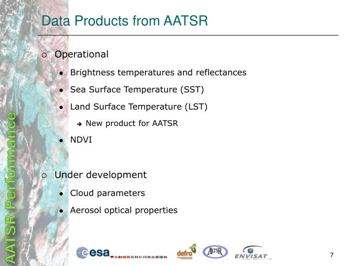 Data Products from AATSR