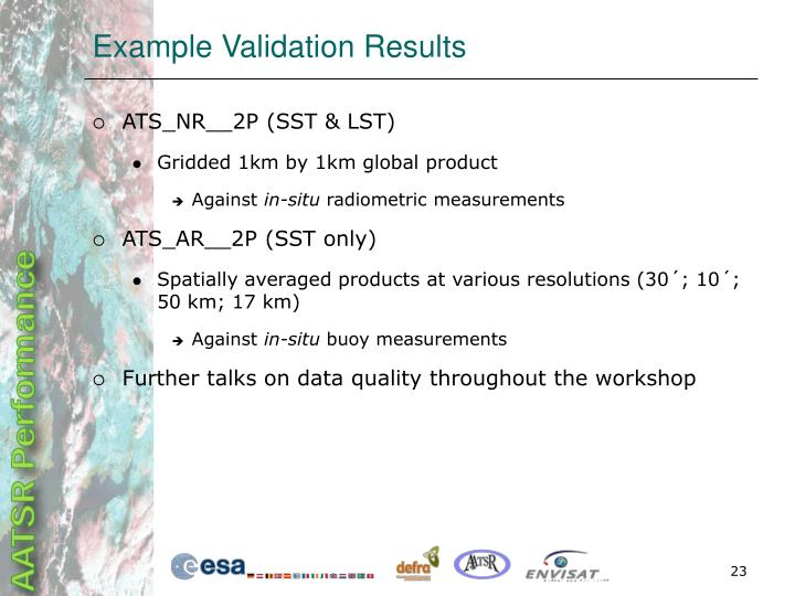 Example Validation Results