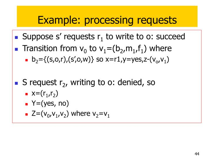 Example: processing requests