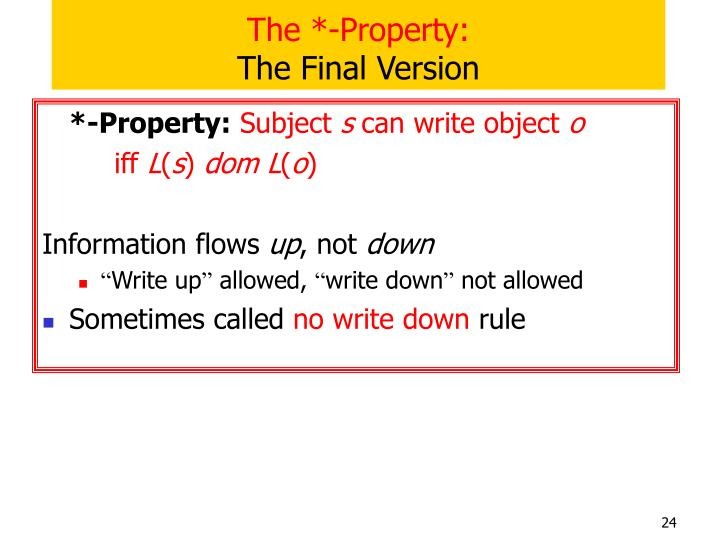 The *-Property: