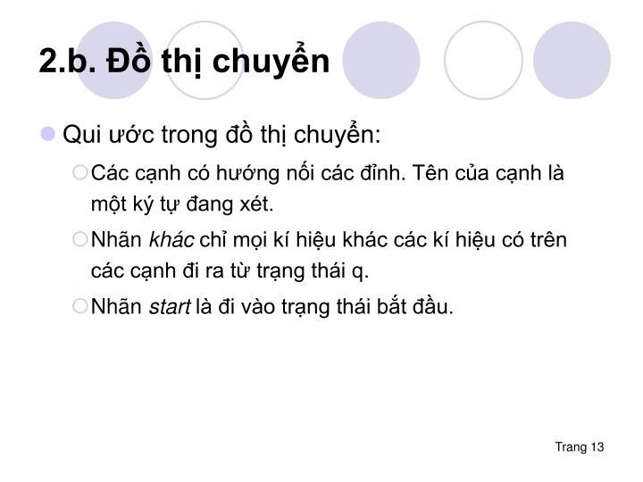 2.b. Đồ thị chuyển