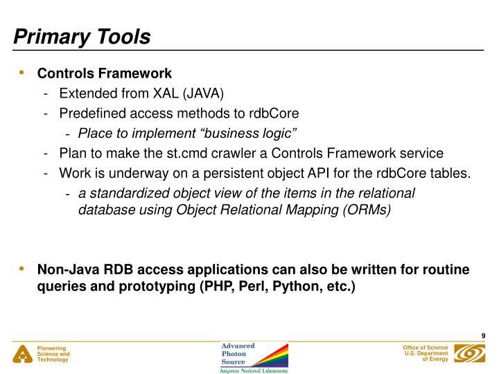 Primary Tools
