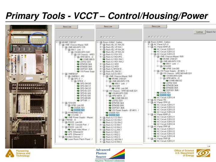 Primary Tools - VCCT – Control/Housing/Power