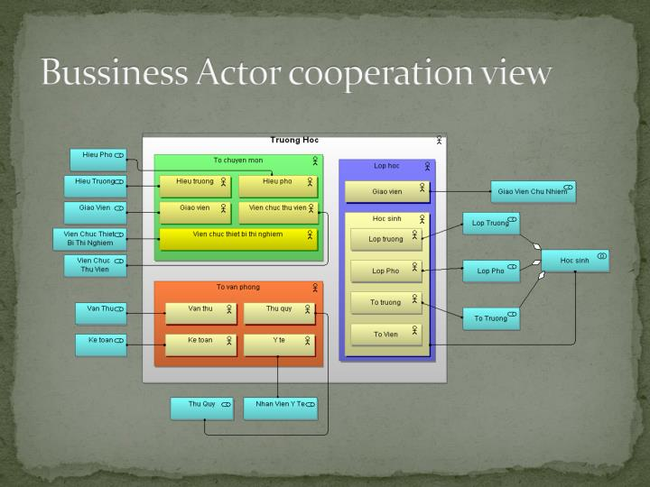 Bussiness Actor cooperation view