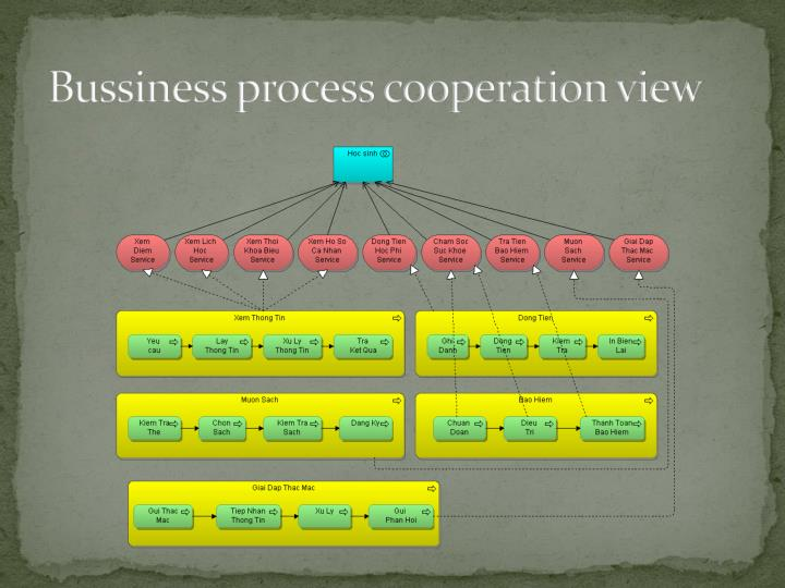 Bussiness process cooperation view