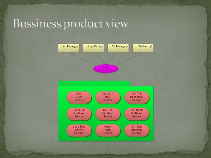 Bussiness product view