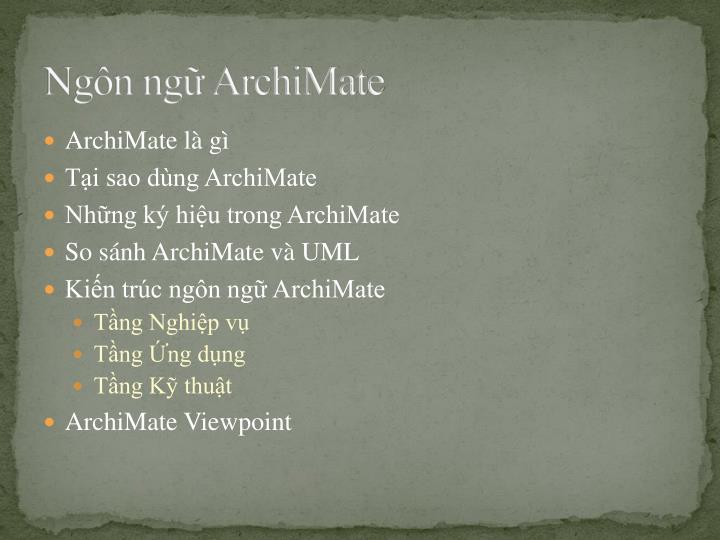 Ngôn ngữ ArchiMate