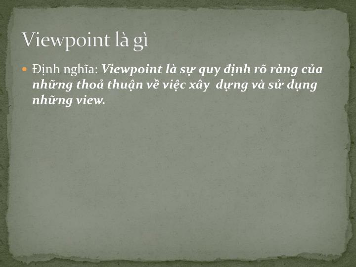 Viewpoint là gì