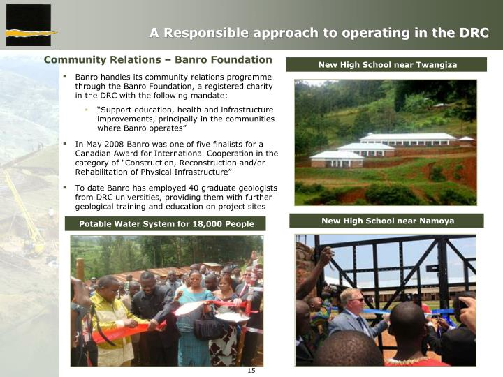 A Responsible approach to operating in the DRC