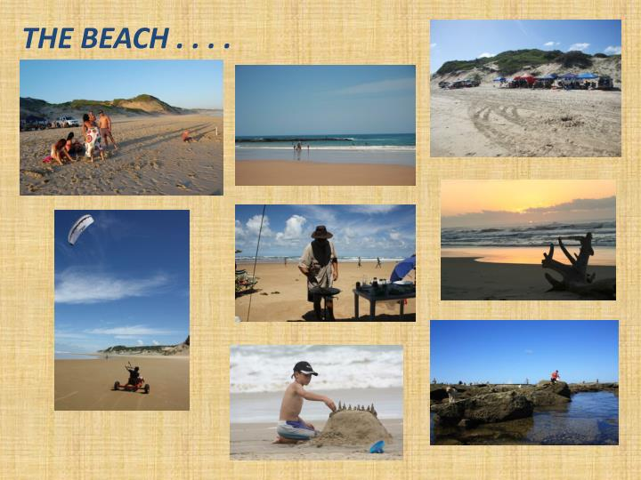 THE BEACH . . . .