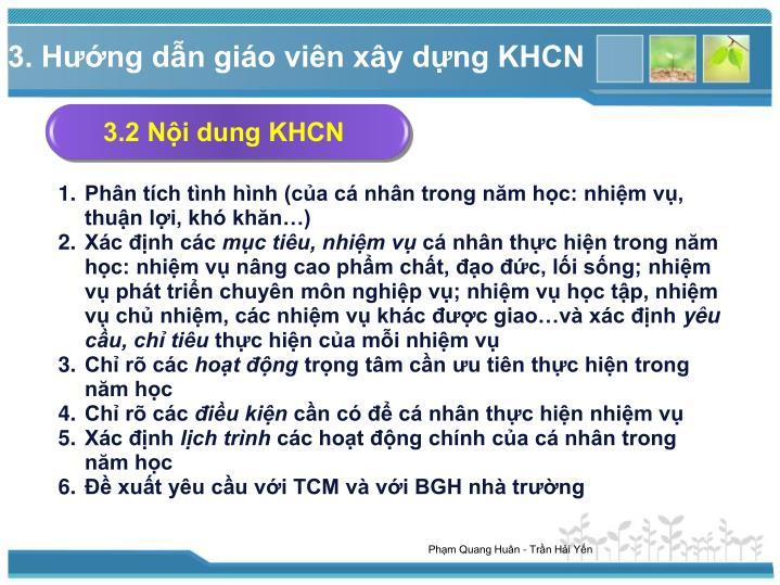 3.2 Nội dung KHCN