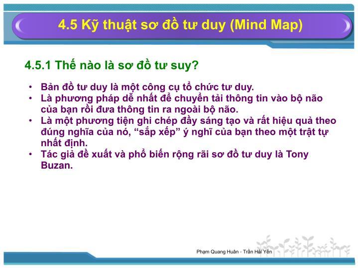 4.5 Kỹ thuật sơ đồ tư duy (Mind Map)