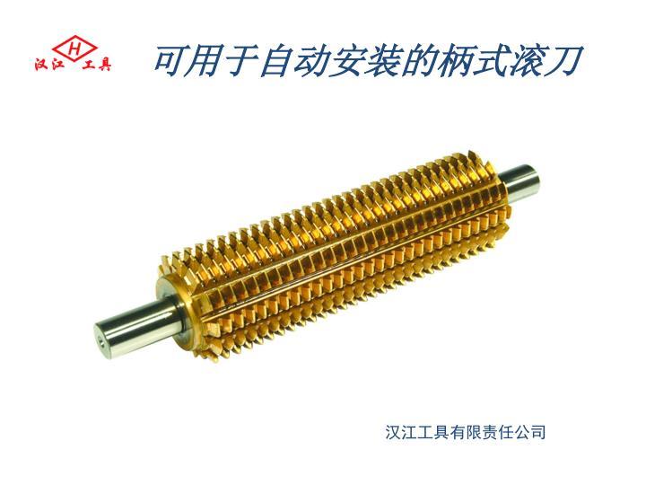 可用于自动安装的柄式滚刀