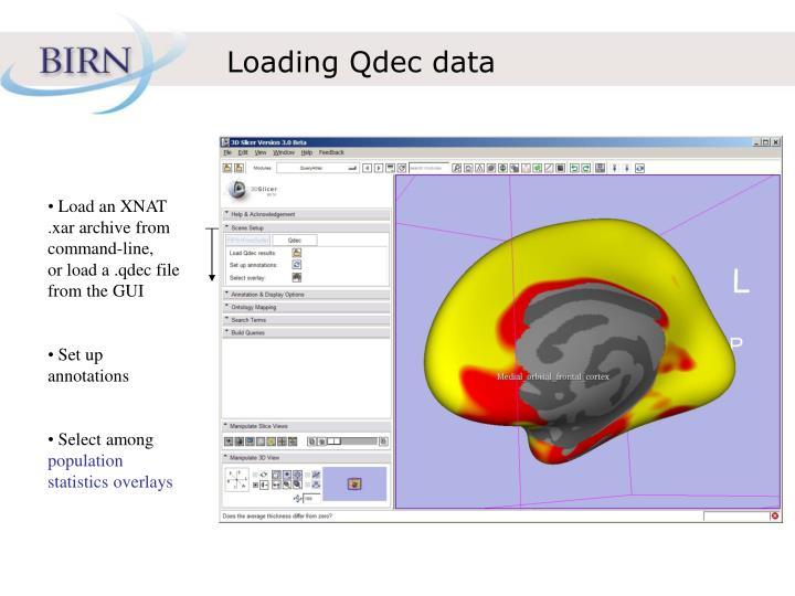 Loading Qdec data
