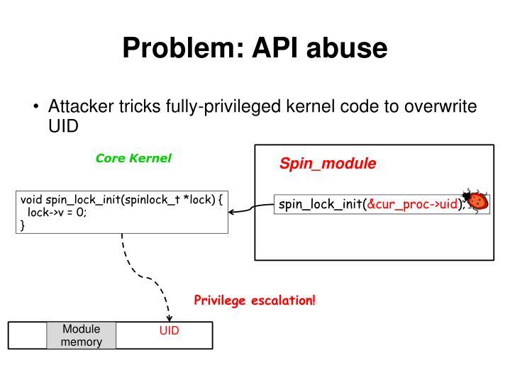 Problem: API abuse