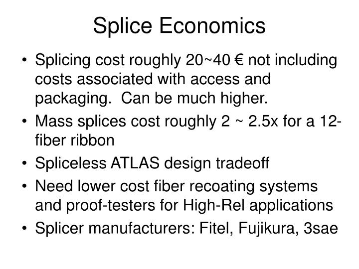 Splice Economics
