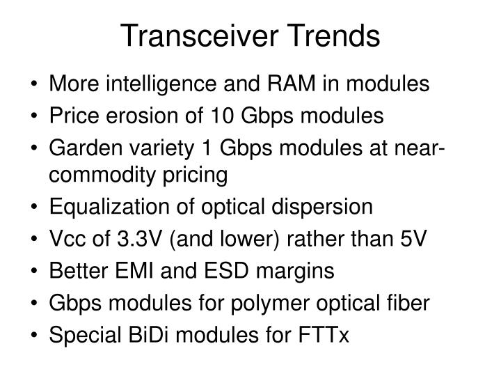 Transceiver Trends