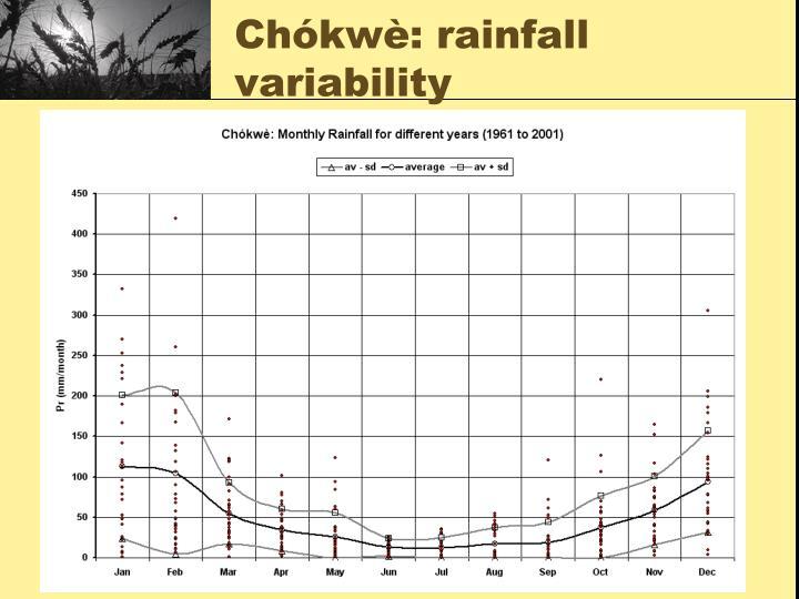 Chókwè: rainfall variability