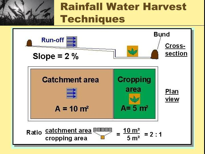 Rainfall Water Harvest Techniques