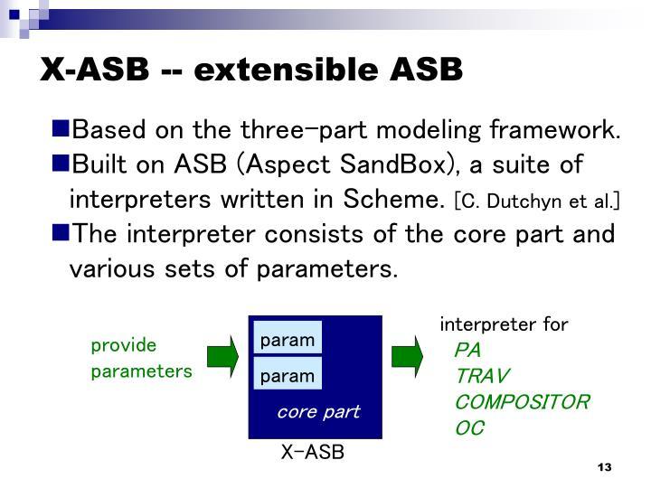 X-ASB -- extensible ASB