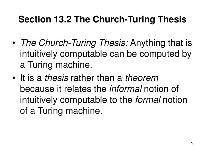 Section 13 2 the church turing thesis