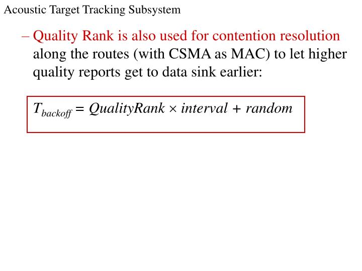Acoustic Target Tracking Subsystem