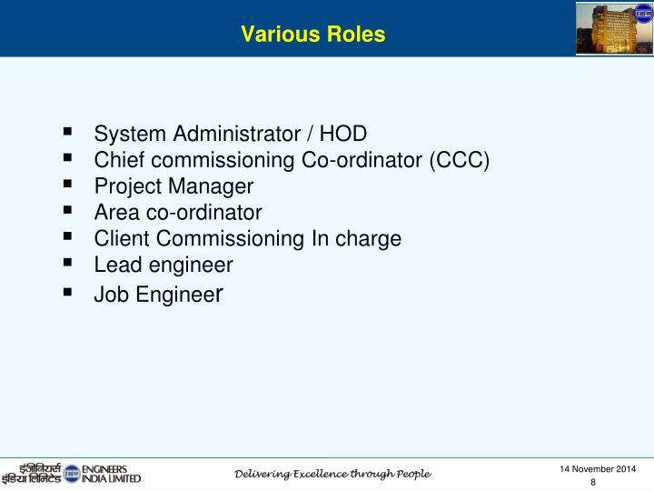 System Administrator / HOD