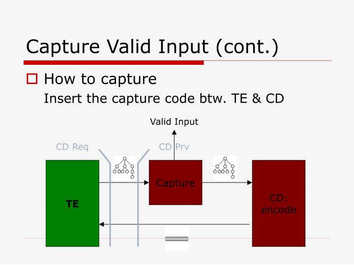 Capture Valid Input (cont.)