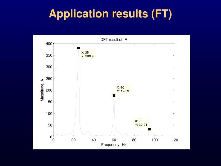 Application results (FT)