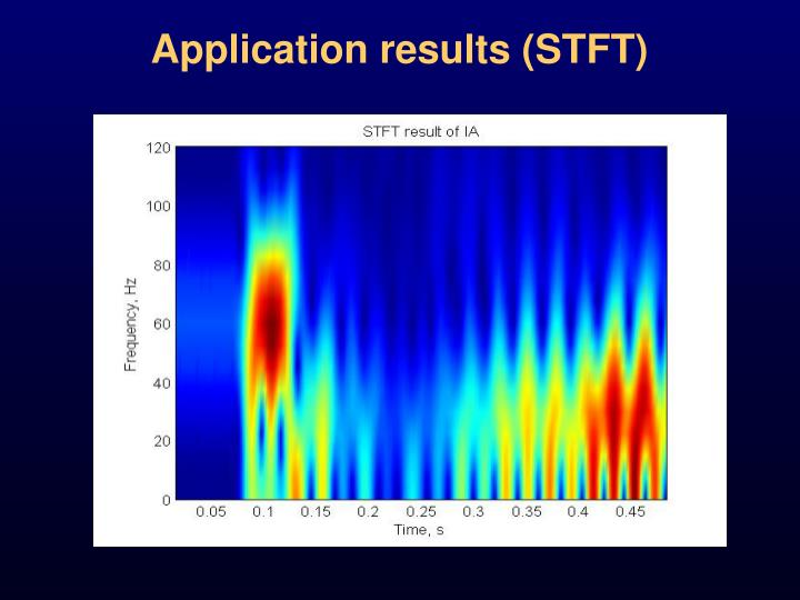 Application results (STFT)