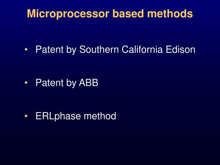 Microprocessor based methods