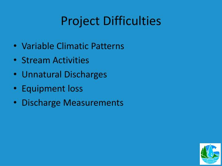 Project Difficulties