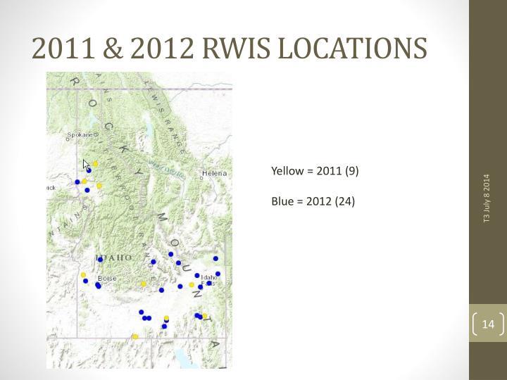 2011 & 2012 RWIS LOCATIONS
