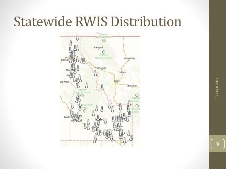 Statewide RWIS Distribution