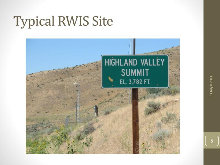 Typical RWIS Site