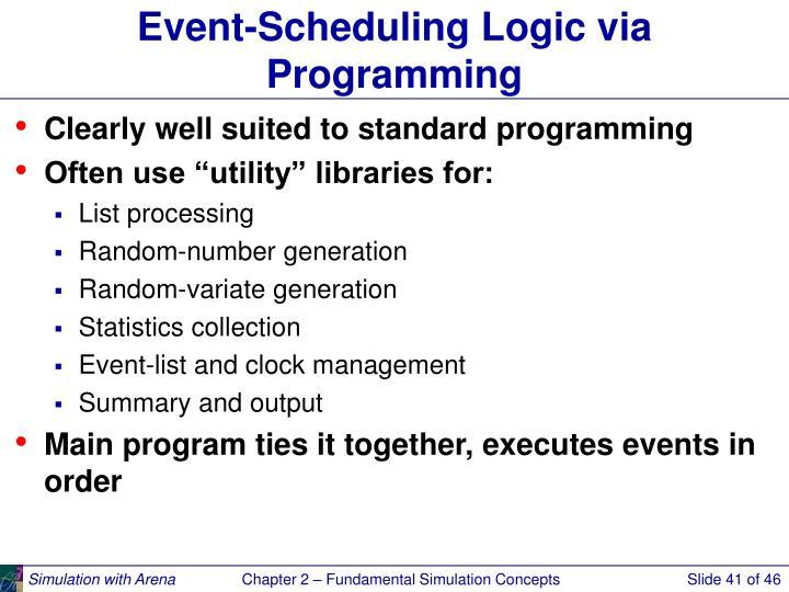 Event-Scheduling Logic via Programming
