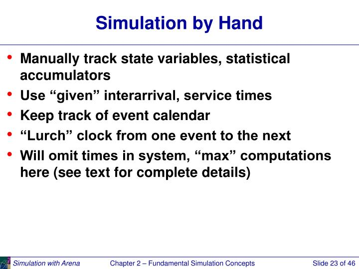 Simulation by Hand