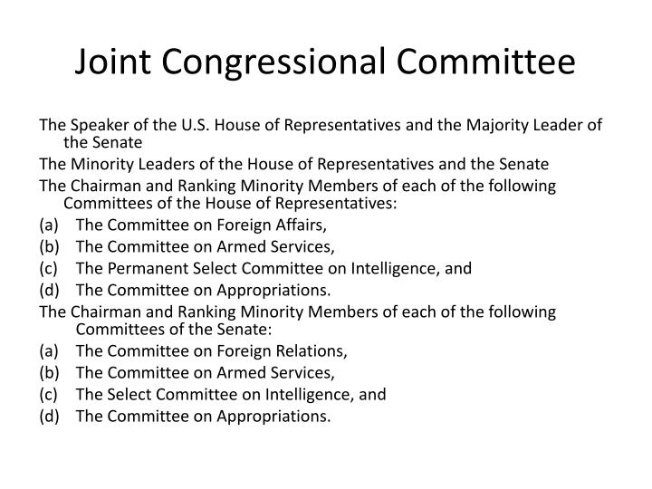 Joint Congressional Committee