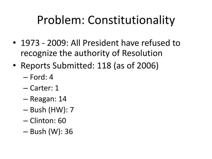 Problem: Constitutionality