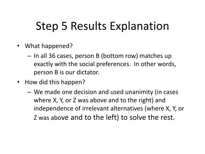 Step 5 Results Explanation