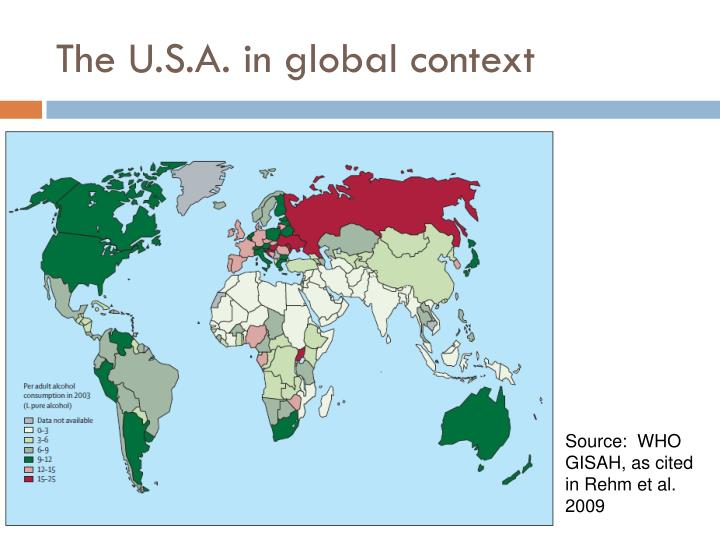 The U.S.A. in global context