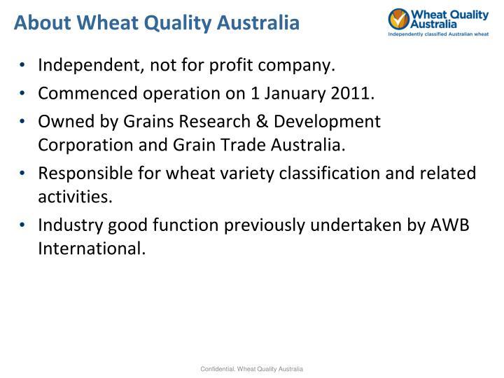 About Wheat Quality Australia