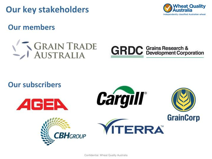 Our key stakeholders